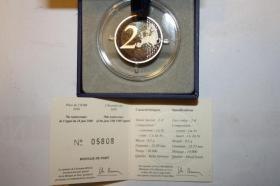 Foto 2 2 EUR Gedenkmünze Frankreich in PP 2010  ( Charles de Gaulle )