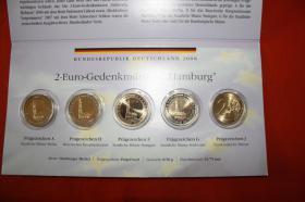 Foto 4 2 EUR Gedenkmünzen A bis J '' Hamburg '' bfr nur 15 EUR