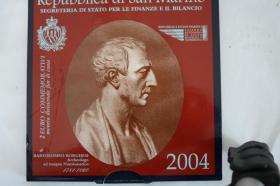 2 EUR San Marino 2004 ( Bart. Borghesi ) im Folder - nur 158 EUR + Porto