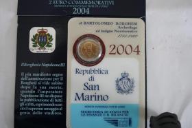 Foto 2 2 EUR San Marino 2004 ( Bart. Borghesi ) im Folder - nur 158 EUR + Porto