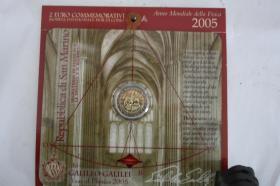 Foto 4 2 EUR San Marino 2004 ( Bart. Borghesi ) im Folder - nur 158 EUR + Porto