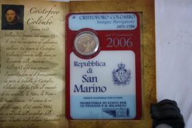 Foto 6 2 EUR San Marino 2004 ( Bart. Borghesi ) im Folder - nur 158 EUR + Porto