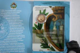 Foto 8 2 EUR San Marino 2004 ( Bart. Borghesi ) im Folder - nur 158 EUR + Porto