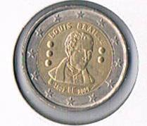2 Euro Gedenkmünze Belgien ''2009 '' Louis Braille ! !