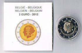 2 Euro Gedenkmünze Belgien '' 2012 '' PP ! !