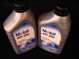 Foto 2 2 Liter Getriebeöl Mobil ATF200 MB Freigabe 236.2 / Type A (Suffix A)-Spezifikation - Mobil ATF 200 für Automatik und Synchrongetriebe MB W114, W123, W124 und W201