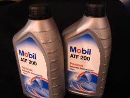 Foto 3 2 Liter Getriebeöl Mobil ATF200 MB Freigabe 236.2 / Type A (Suffix A)-Spezifikation - Mobil ATF 200 für Automatik und Synchrongetriebe MB W114, W123, W124 und W201
