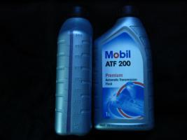 Foto 7 2 Liter Getriebeöl Mobil ATF200 MB Freigabe 236.2 / Type A (Suffix A)-Spezifikation - Mobil ATF 200 für Automatik und Synchrongetriebe MB W114, W123, W124 und W201