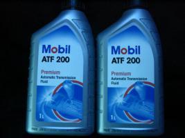 Foto 8 2 Liter Getriebeöl Mobil ATF200 MB Freigabe 236.2 / Type A (Suffix A)-Spezifikation - Mobil ATF 200 für Automatik und Synchrongetriebe MB W114, W123, W124 und W201