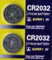 2 Lithium Knopfzellen 3 V CR 2032 im 2er Blister ideal für LED Kerzen