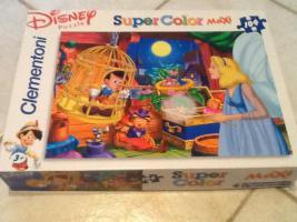 Foto 2 2 Puzzle maxi 104 Teilen Disney Djungelbuch + Pinocchio Extra große Teile!