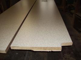 2 Stück Küchenarbeitsplatten von Getalit Dekor ''Granito hell'' 4,10m x 0,60m