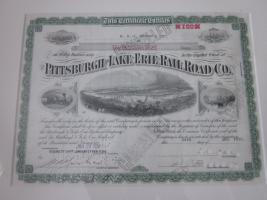 Foto 3 2 antike Bilder - 1936 - Pittsburgh Rail Road Company - Aktien - 39x32 -im Holzrahmen
