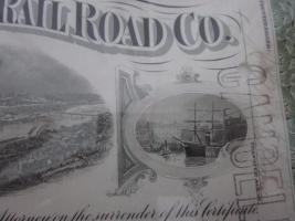 Foto 5 2 antike Bilder - 1936 - Pittsburgh Rail Road Company - Aktien - 39x32 -im Holzrahmen