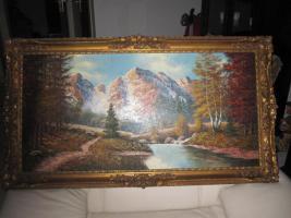 2 x Öl- Gemälde vom H. Hartung, 1x Landschaft, 1x Berliner- Schloss- Brücke( signiert)