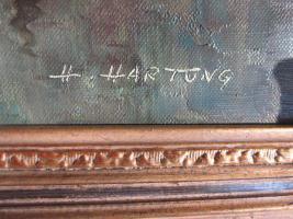 Foto 9 2 x Öl- Gemälde vom H. Hartung, 1x Landschaft, 1x Berliner- Schloss- Brücke( signiert)