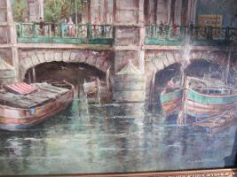 Foto 11 2 x Öl- Gemälde vom H. Hartung, 1x Landschaft, 1x Berliner- Schloss- Brücke( signiert)