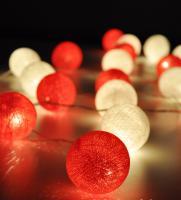 Foto 5 20 White & Red Cotton Ball String Party, Patio, Wedding