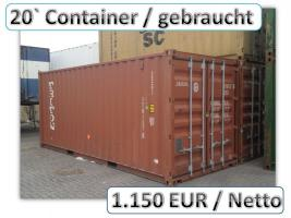 20 ft Lagercontainer Seecontainer Überseecontainer Materialcontainer gebraucht