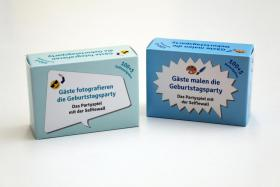 200 Spielkarten mit Foto- & Malaufgaben, Geburtstagsparty, Runder Geburtstag