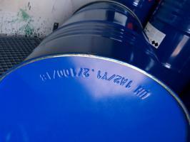gebrauchte 200 l Spannringfässer mit UN-Nummer