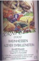 2002 Alzeyer Sybillenstein Dornfelder