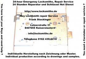 24 Hours locksmith, key locksmiths Service and repairs from locksmiths.de