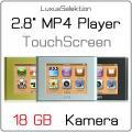 2.8   MP4 TOUCH Player JXD 803 * 18 GB Speicher * 2 MP Camcorder + Kamera * Ebook Reader * Kalender * TV-IN * TV-OUT * NEU + OVP