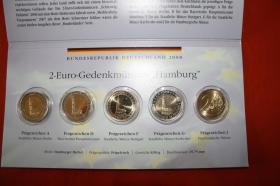 2 - EUR Gedenkmünzen '' Hamburg '' A bis J bfr