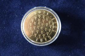 3 EUR Mü. Slowenien 2008 Vollvergoldet 15 EUR