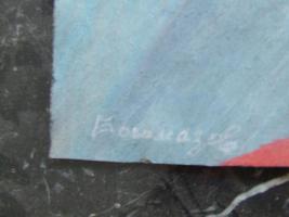 3 Gemälde A. Bogomazov / N. Suetin  / L. Popova oder Popowa ? aus DDR Nachlass