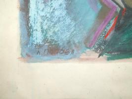 Foto 6 3 Gemälde A. Bogomazov / N. Suetin  / L. Popova oder Popowa ? aus DDR Nachlass