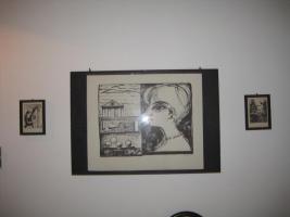 3 Lithographien im Glasrahmen
