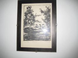 Foto 2 3 Lithographien im Glasrahmen