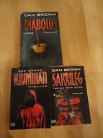 3 St. Bücher Thriller Dan Brown ''Diabolus'' ''Illuminati'' ''Sakrileg'' 10,