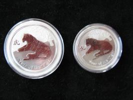 3 Unzen Silber Australien Jahr des Tigers Luna Serie 2010