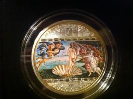 3 Unzen Silbermünze (Sammelobjekt) mit 17 (!) Swarovski® Kristallen