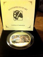 Foto 3 3 Unzen Silbermünze (Sammelobjekt) mit 17 (!) Swarovski® Kristallen