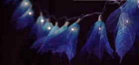 Foto 3 35x Blue Leaf Flower String Party, Patio, Wedding Light
