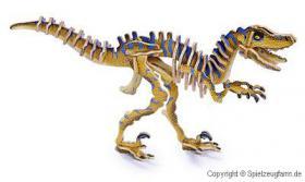 3D Puzzle Dinosaurier, Velociraptor, Holz, für nur 2,76 €, NEU