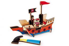 3D Puzzle Piratenboot aus Holz, ab 5 Jahre, für nur 7,99, NEU