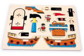 Foto 2 3D Puzzle Piratenboot aus Holz, ab 5 Jahre, für nur 7,99, NEU