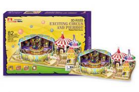 3D Puzzle Zirkus, 82 Teile, ab 8 Jahre, NEU