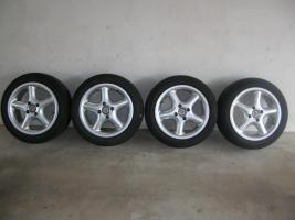 Foto 2 4 Alufelgen Ronal 7x15 H2 + Bereifung 195/50 R15 V (VW Golf III, Seat, Opel)