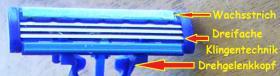 Foto 4 4 Einwegrasierer  3 fache Klingentechnik, Drehgelenkkopf, Wachsstrich, weicher Handgriff