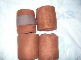 4 er Set Fleecebandagen in Braun