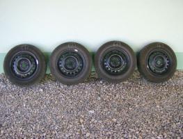 4 Stahlfelgen 14x5 1/2 JH2 ET49