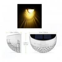 Foto 2 4 Stück LED Solarleuchte 6LEDs solarleuchten Wasserdicht Gartenleuchte, Solar Außenleuchte, Wandleuchte