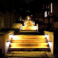 Foto 4 4 Stück LED Solarleuchte 6LEDs solarleuchten Wasserdicht Gartenleuchte, Solar Außenleuchte, Wandleuchte