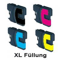 4 StückKompatible Druckerpatronen ersetzten Brother LC-1100 / LC-980 für Brother DCP145C, DCP165C, DCP185C, DCP385C, DCP585CW, DCP6690CW, MFC490CW, MFC790CW, MFC5490CN, MFC6490CW